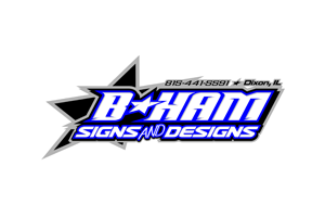 B Ham Sign and Design Logo